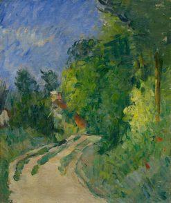 La route tournante en sous-bois (Bend in the Road Through the Forest ) | Paul CEzanne | Oil Painting