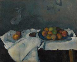 Assiette de pêches (Still Life: Plate of Peaches) | Paul CEzanne | Oil Painting