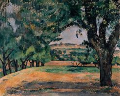 Environs du Jas de Bouffan (The Neighborhood of Jas de Bouffan) | Paul CEzanne | Oil Painting