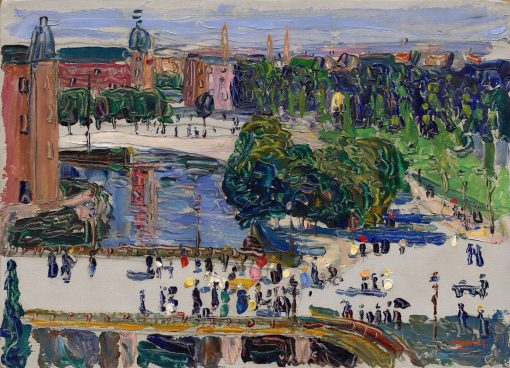 Amsterdam - View from the Window | Wassily Kandinsky | Oil Painting