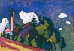 "Study for ""Landscape with Tower"" 