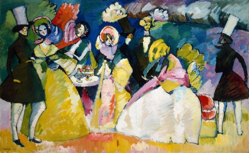 Group in Crinolines | Wassily Kandinsky | Oil Painting