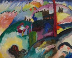Landscape with Factory Chimney | Wassily Kandinsky | Oil Painting