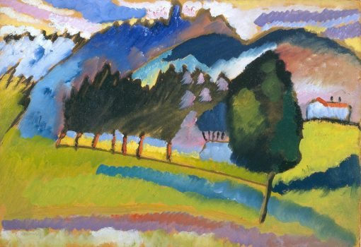 Landscape with Rolling Hills | Wassily Kandinsky | Oil Painting