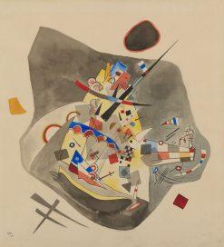 Gray Spot | Wassily Kandinsky | Oil Painting