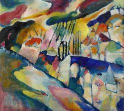 Landschaft mit Regen (Landscape with Rain) | Wassily Kandinsky | Oil Painting