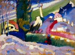 Winterlandschaft mit Kirche (Winter Landscape with Church) | Wassily Kandinsky | Oil Painting