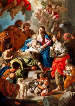 Adoration of the Shepherds | Francesco de Mura | Oil Painting