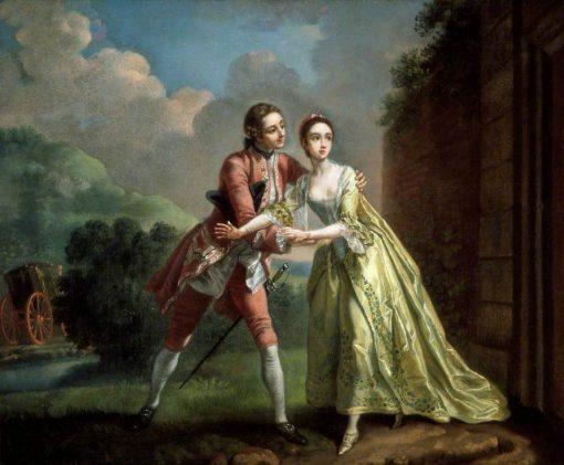 Robert Lovelace Preparing to Abduct | Francis Hayman | Oil Painting
