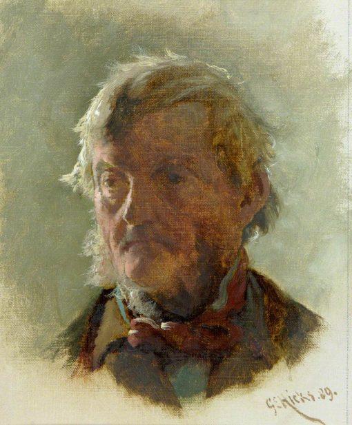An Old Man's Head | George Elgar Hicks | Oil Painting