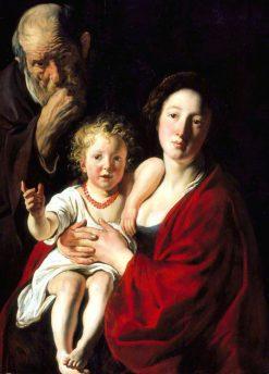 The Holy Family | Jacob Jordaens | Oil Painting