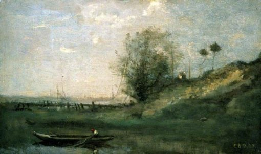 Breakwater in Normandy | Jean Baptiste Camille Corot | Oil Painting