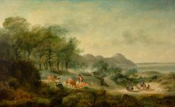 Distant View of Anglesea | Julius Caesar Ibbetson | Oil Painting
