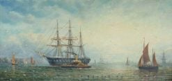 HMS 'Victory' | William Adolphus Knell | Oil Painting