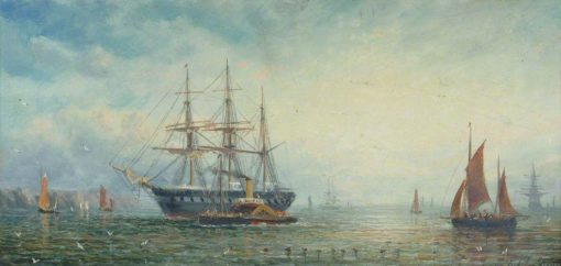 HMS 'Victory'   William Adolphus Knell   Oil Painting