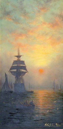 Sunset at Sea | William Adolphus Knell | Oil Painting