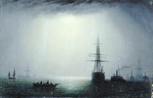 Moonlight Scene | William Adolphus Knell | Oil Painting
