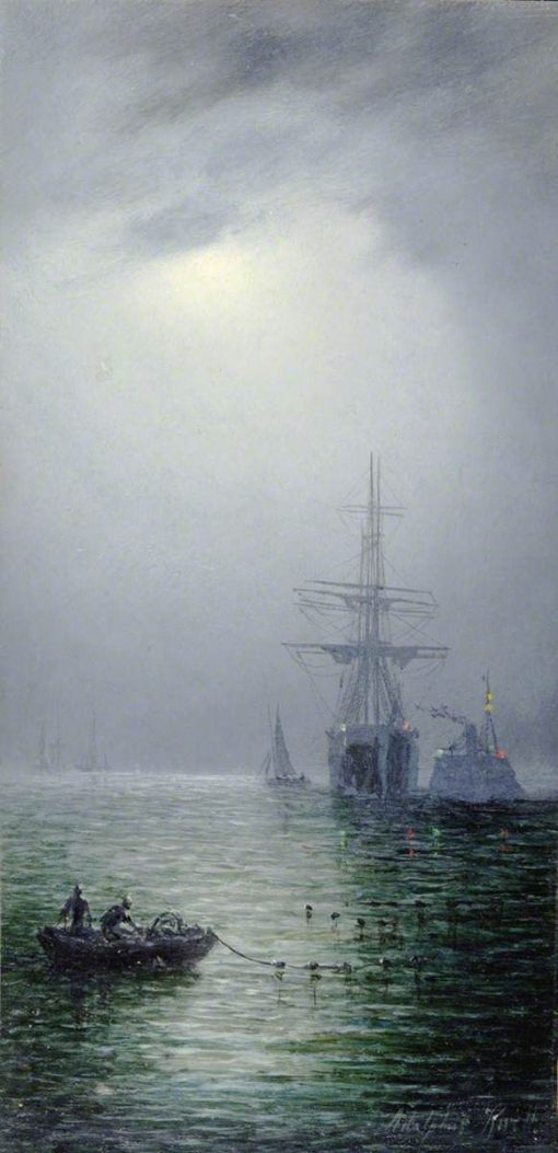 Moonlight at Sea | William Adolphus Knell | Oil Painting