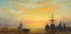 Sunset Scene | William Adolphus Knell | Oil Painting