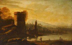 Classical Landscape   Francesco Zuccarelli   Oil Painting