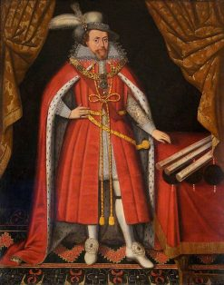 James I in his State Clothes   British School th Century   Unknown   Oil Painting