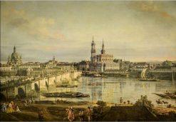 Old town of Dresden | Bernardo Bellotto | Oil Painting