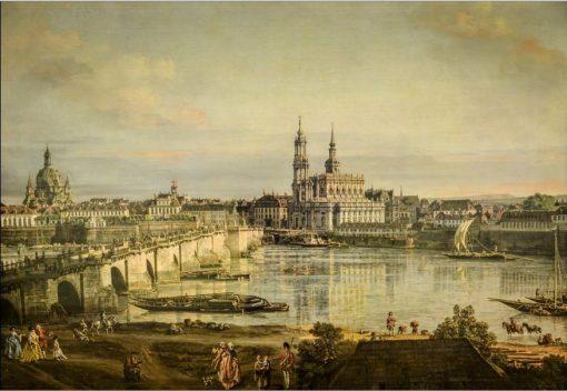 Old town of Dresden   Bernardo Bellotto   Oil Painting