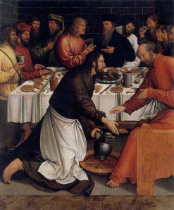 Christ Washing the Disciples' Feet   Bernhard Strigel   Oil Painting
