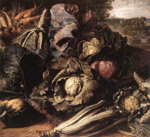Still Life: Vegetables   Frans Snyders   Oil Painting