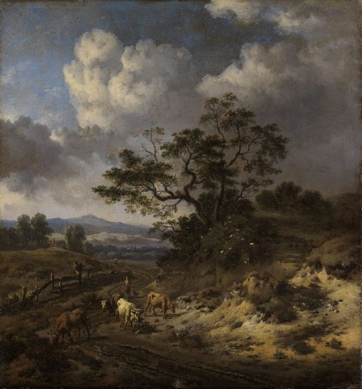 Hilly Landscape with Cows | Jan Wijnants | Oil Painting