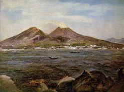 Boats in the Bay of Naples | Joseph Rebell | Oil Painting