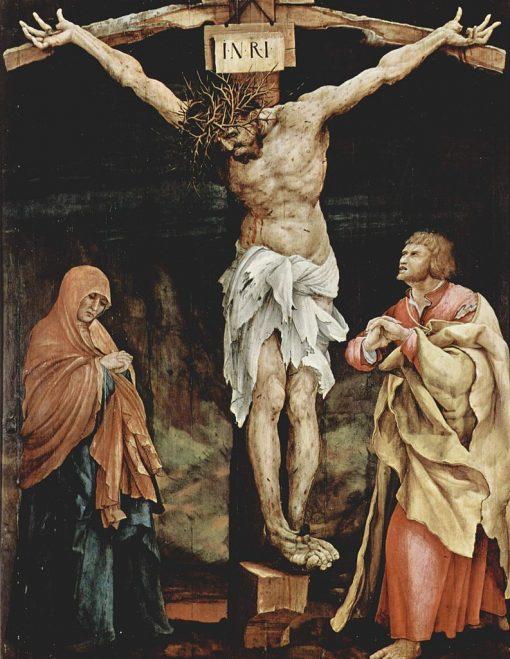 Large Crucifixion (The Tauberbischofsheim Altarpiece) | Matthias Grunewald | Oil Painting