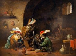 Costumised Monkeys | David Teniers II | Oil Painting