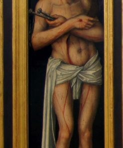 Crucifixion Triptych - Christ as the Man of Sorrows (verso) | Lucas Cranach the Elder | Oil Painting