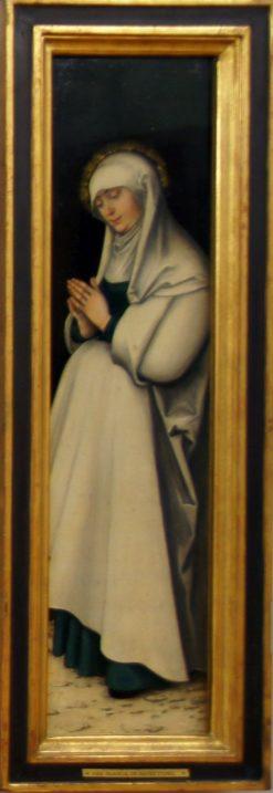 Crucifixion Triptych - The Virgin in Prayer (verso) | Lucas Cranach the Elder | Oil Painting