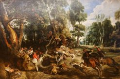 Wild Boar Hunt | Peter Paul Rubens | Oil Painting