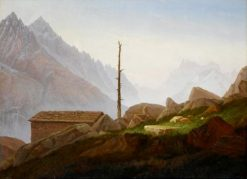 View from the Montanvert onto the Montblanc Group | Carl Gustav Carus | Oil Painting