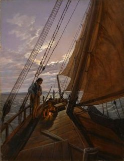 Boatmen on the Hoher See | Carl Gustav Carus | Oil Painting