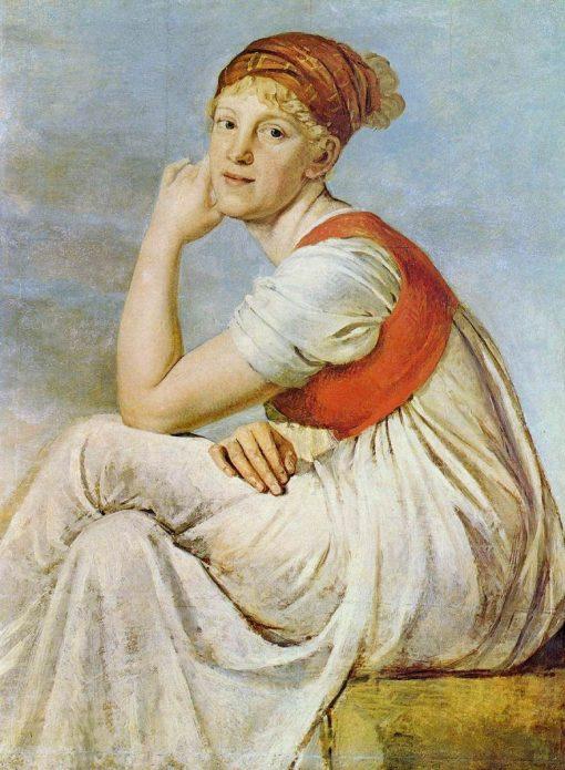 Portrait of Heinrike Dannecker | Christian Gottlieb Schick | Oil Painting