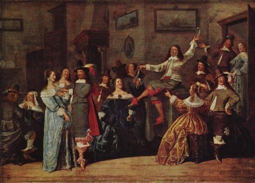 Merry Society | Dirck Hals | Oil Painting