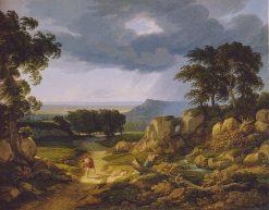 Figure in a Stormy Landscape | Johann Christian Reinhart | Oil Painting