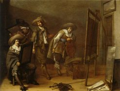 Art Lovers in a Painter's Studio | Pieter Codde | Oil Painting