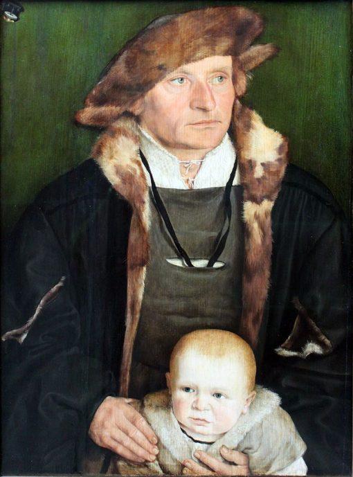 Portrait of Hans Urmiller with his Son | Barthel Beham | Oil Painting