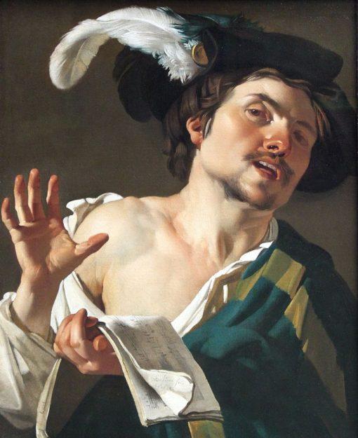 Young Man Singing | Dirck van Baburen | Oil Painting