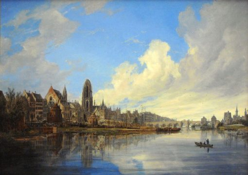 View of Frankfurt-am-Main | Domenico Quaglio the Younger | Oil Painting