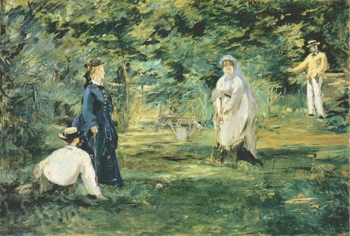 A Game of Croquet | Edouard Manet | Oil Painting