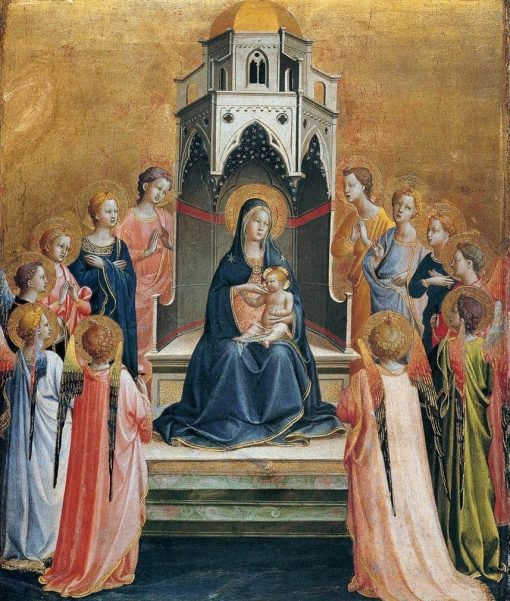Virgin and Child Enthroned with Twelve Angels | Fra Angelico | Oil Painting
