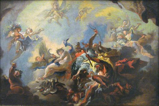 Sketch for 'Allegory of Time'   Franz Anton Maulbertsch   Oil Painting