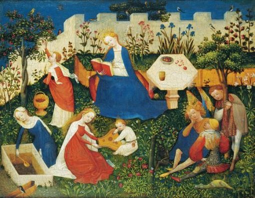 The Little Garden of Paradise | German School th Century   Unknown | Oil Painting