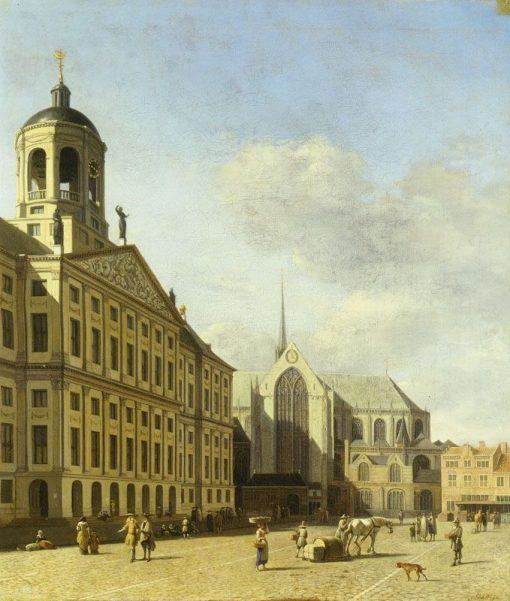 Amsterdam Town Hall   Gerrit Adriaensz.Berckheyde   Oil Painting